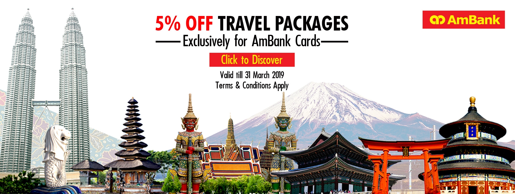 Get 5% OFF Harpers Travel In-House Packages 2018-2019 for AmBank Cards